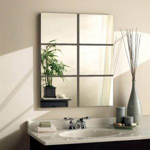 Decorative Mirrors Acrylic Square Wall Stickers 9pcs/set