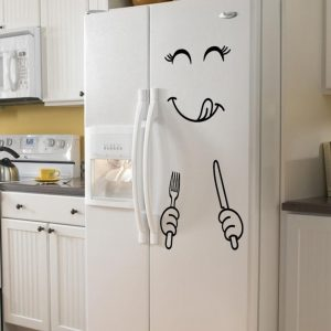 Cute Sticker Fridge Happy Delicious Face Stickers