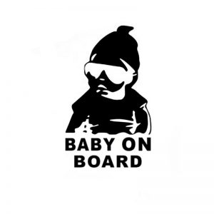 BABY ON BOARD Cool Rear Reflective Sunglasses Child Car Stickers