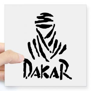 Universal creative white DAKAR reflective waterproof car sticker