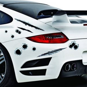 3D Bullet Hole Funny Car Stickers