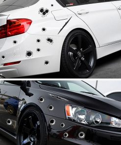 Bullet Hole Funny Car Stickers | Waterproof Stickers | The Switch Stickers