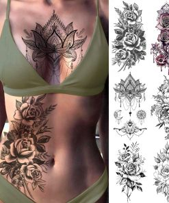 Chest Art Temporary Tattoo | Body Chest Art | The Switch Stickers